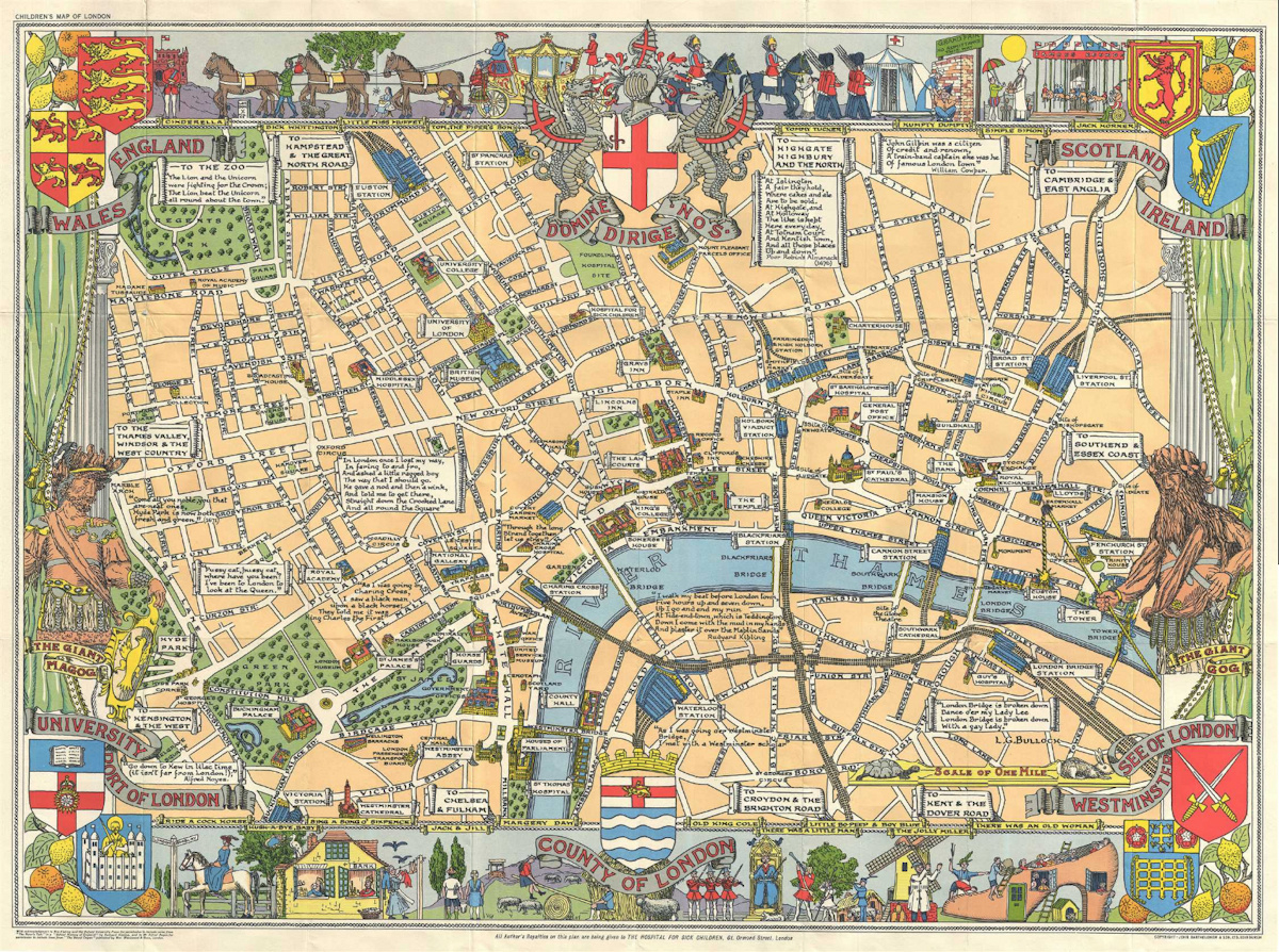 Children's Map Of London | Mapping London - Printable Children's Map Of London