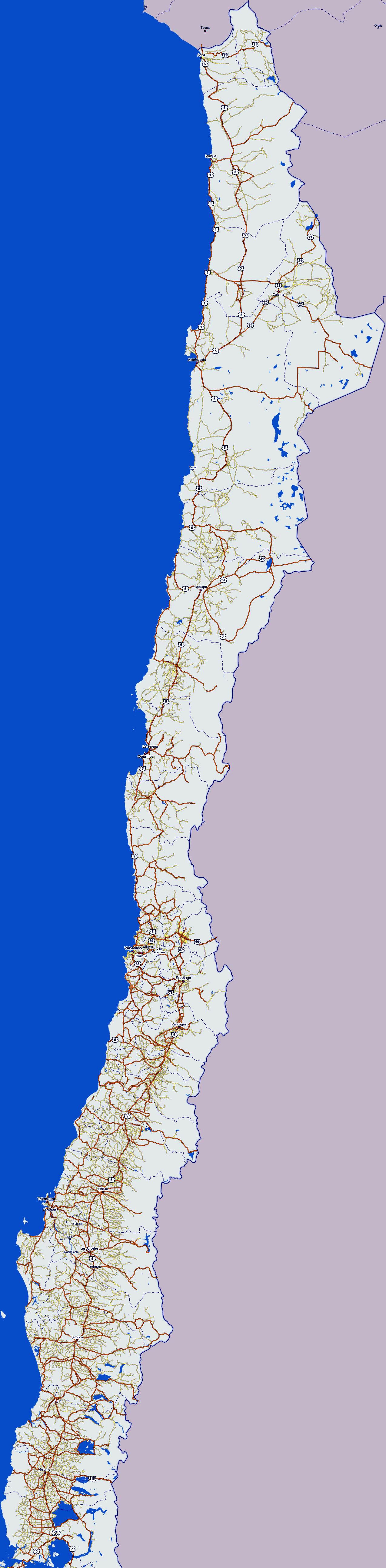 Chile Maps | Printable Maps Of Chile For Download - Printable Map Of Chile
