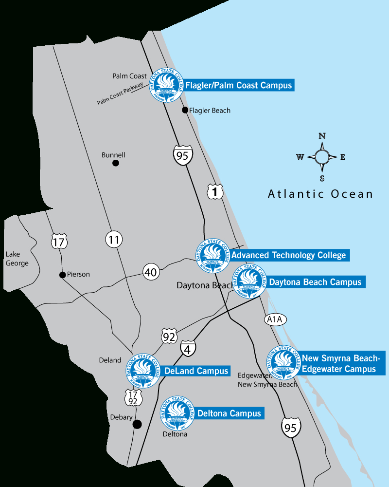 Choose Your Campus - Where Is Daytona Beach Florida On The Map