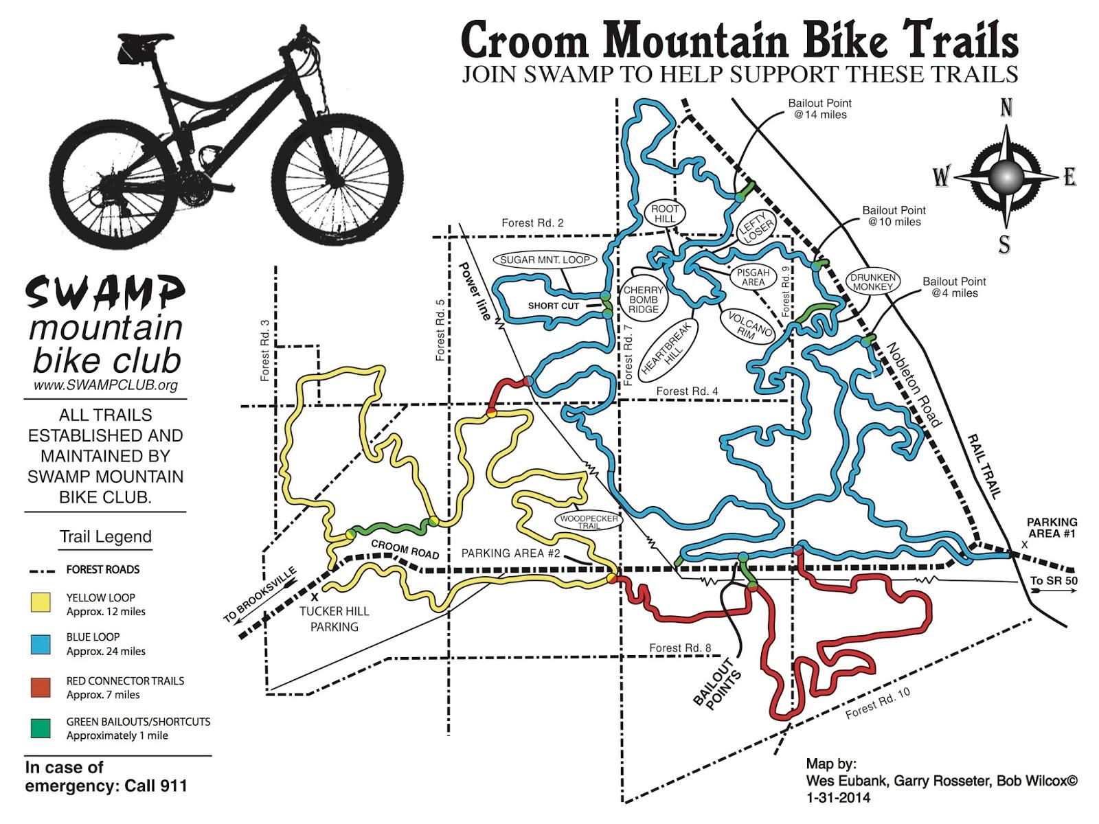 Chuck's Adventures: Biking Florida's Croom Mountain Biking Trails - Florida Mountain Bike Trails Map