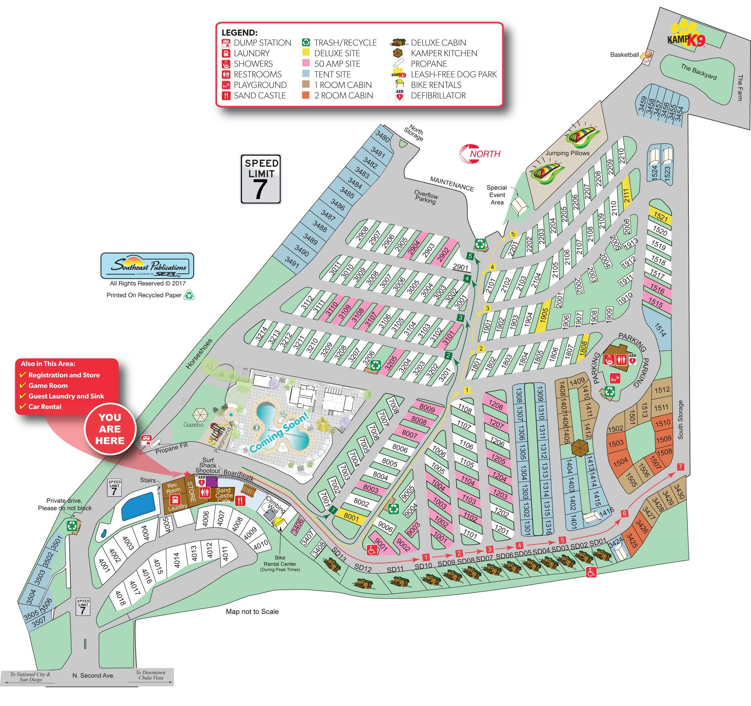 Chula Vista, California Campground | San Diego Metro Koa - California Tent Camping Map