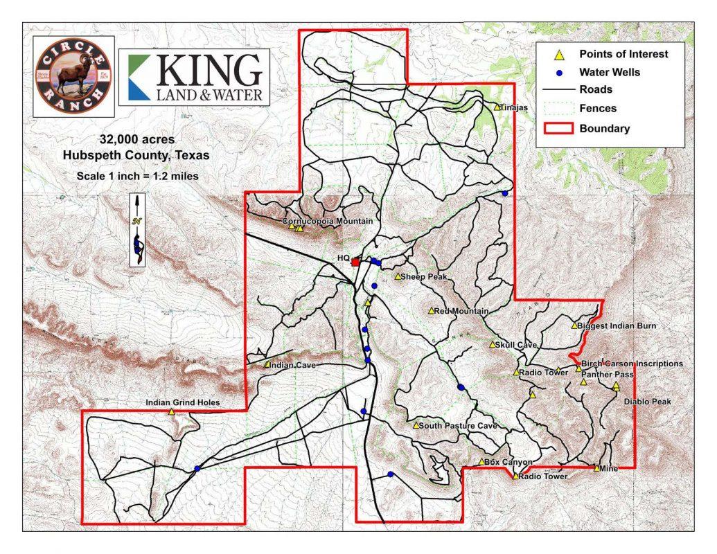 Circle Ranch – King Land & Water - King Ranch Texas Map