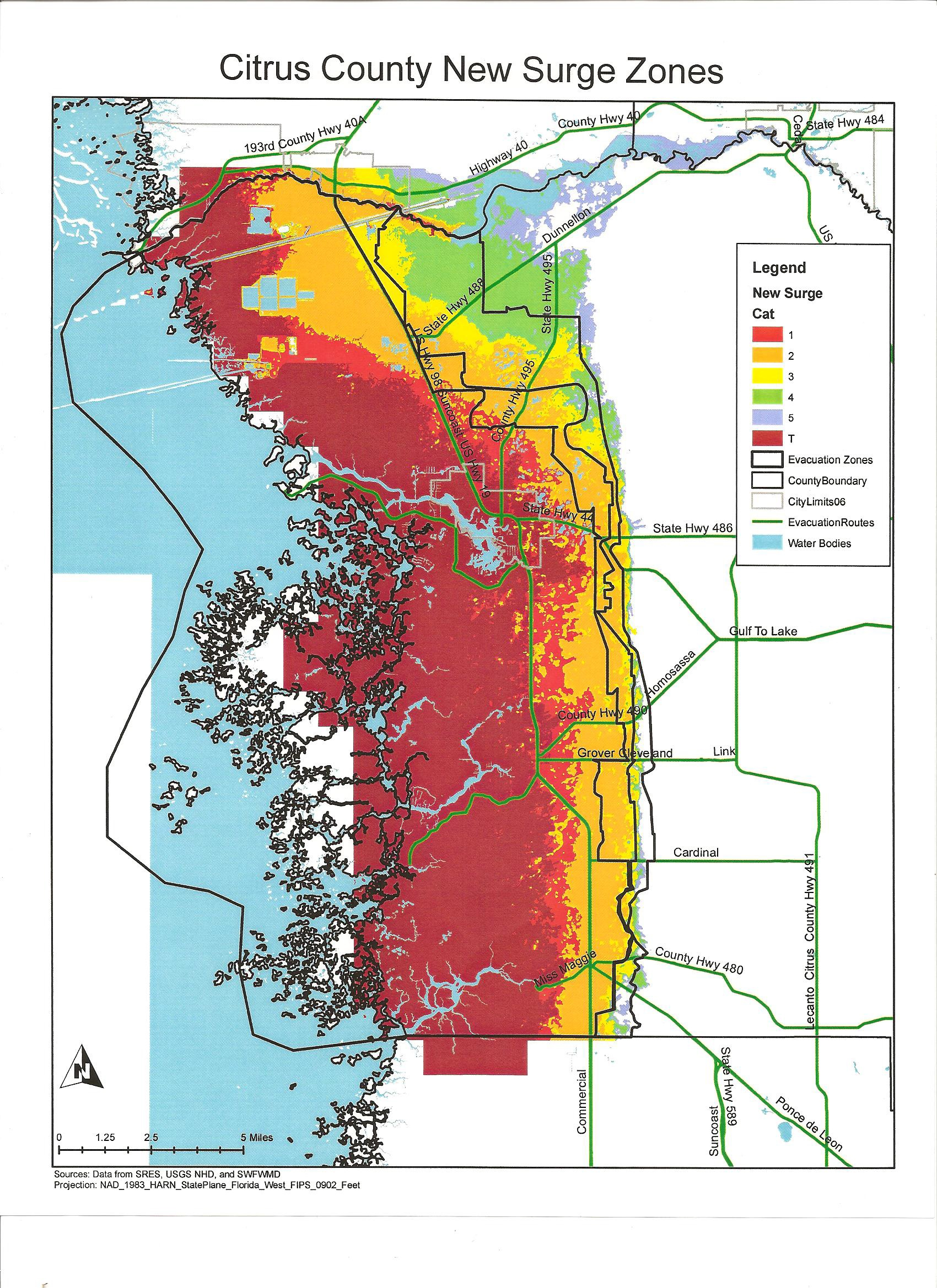 Citrus County Florida And Hurricanes   Cloudman23 - Marion County Florida Flood Zone Map