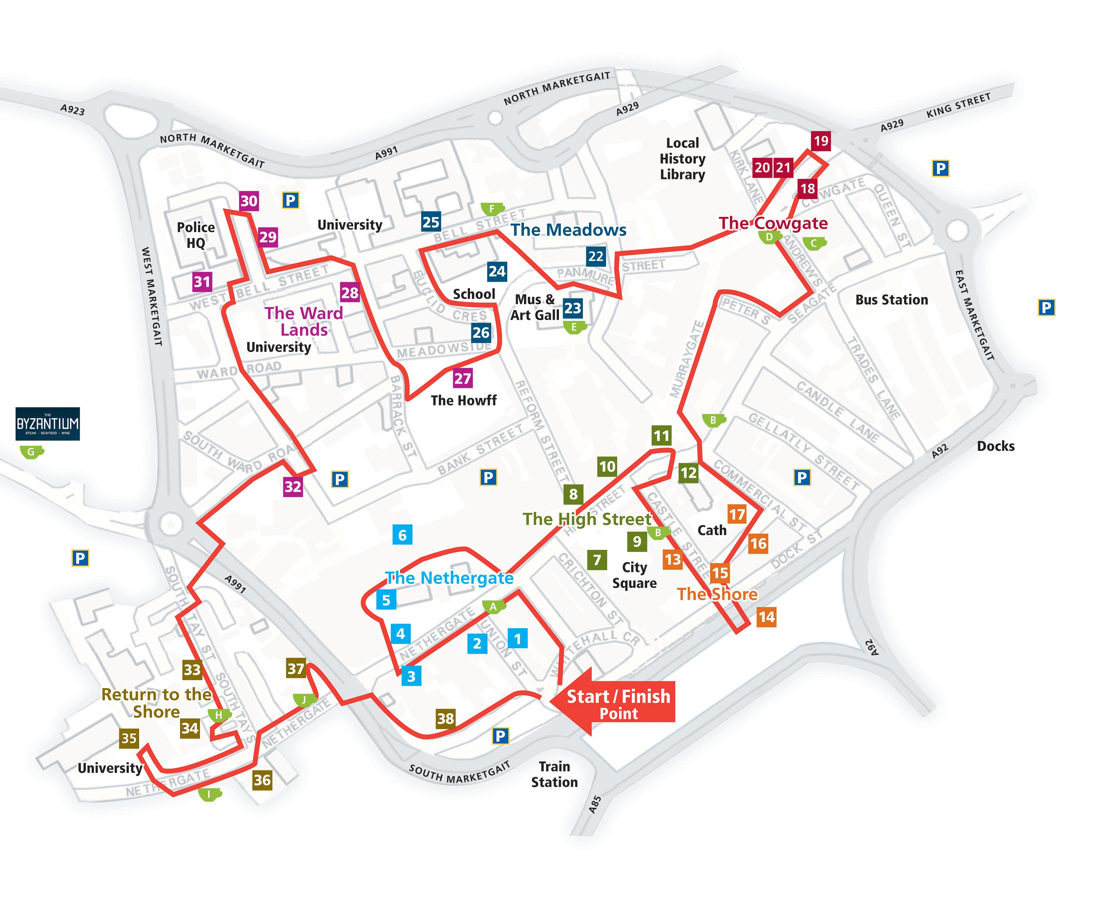 City Centre Walk | Dundee Heritage Walk - Dundee Florida Map