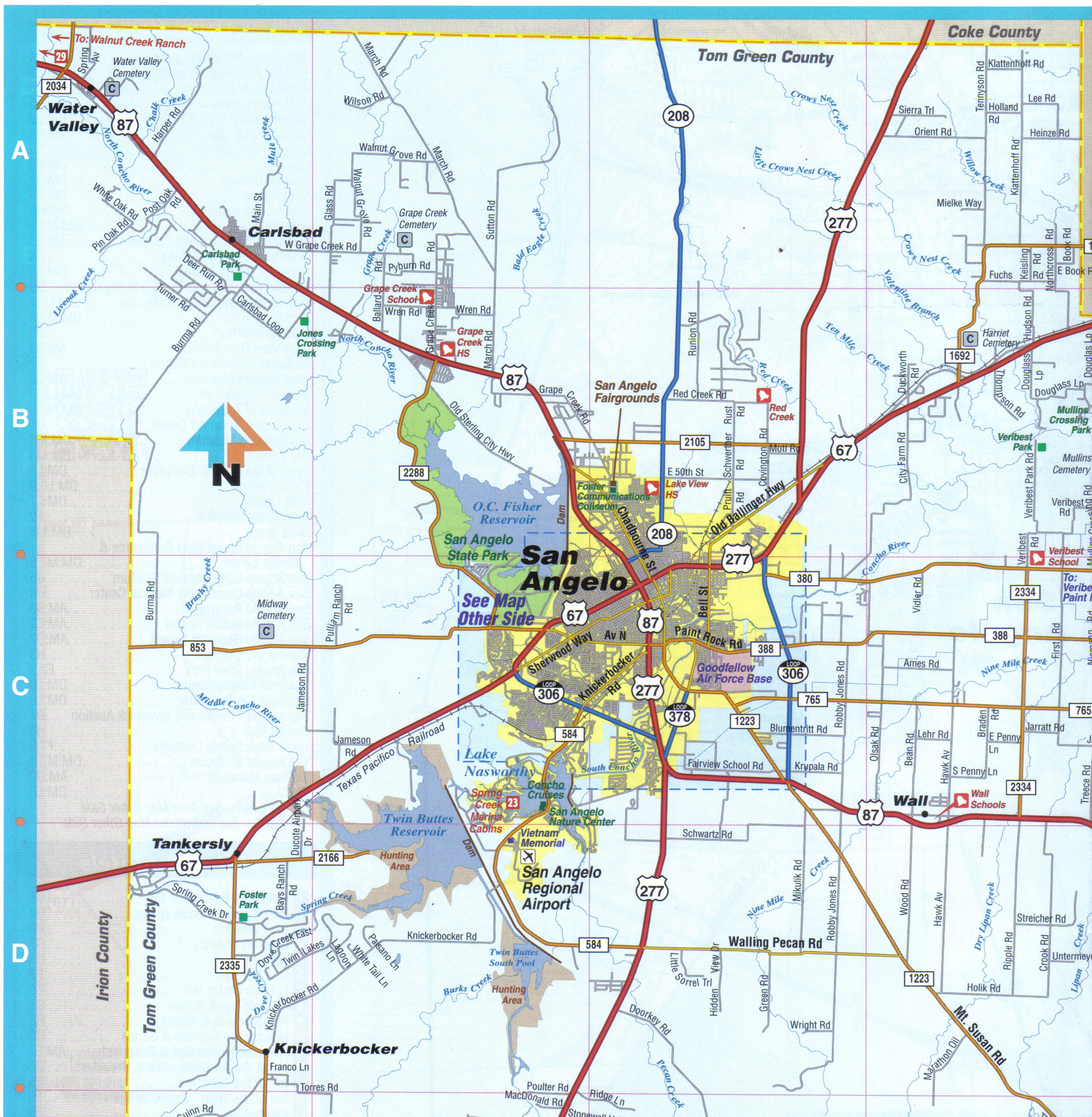 City Map Of San Angelo Texas - Roundtripticket - Street Map Of San Angelo Texas