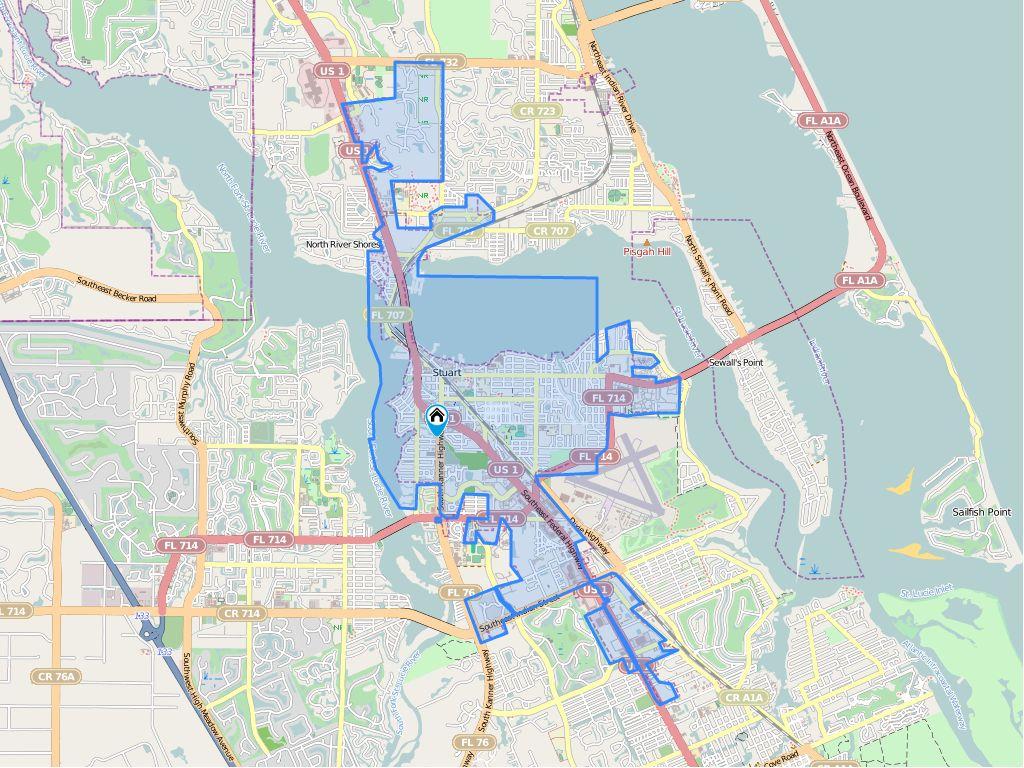 City Map Of Stuart Florida - Nbrcnparks - Map Showing Stuart Florida