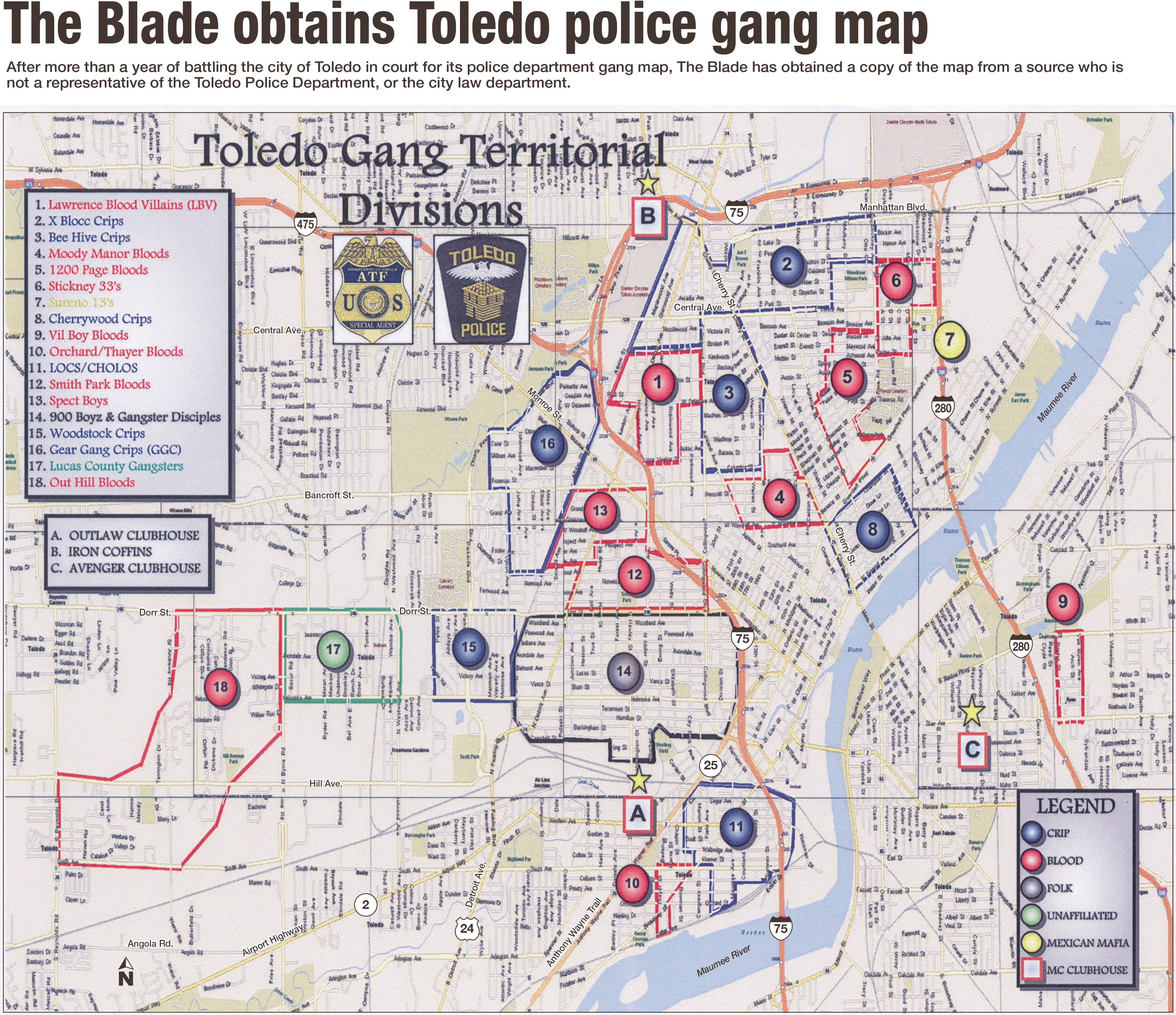 City Map Of Toledo Ohio And Travel Information | Download Free City - Printable Map Of Toledo Ohio
