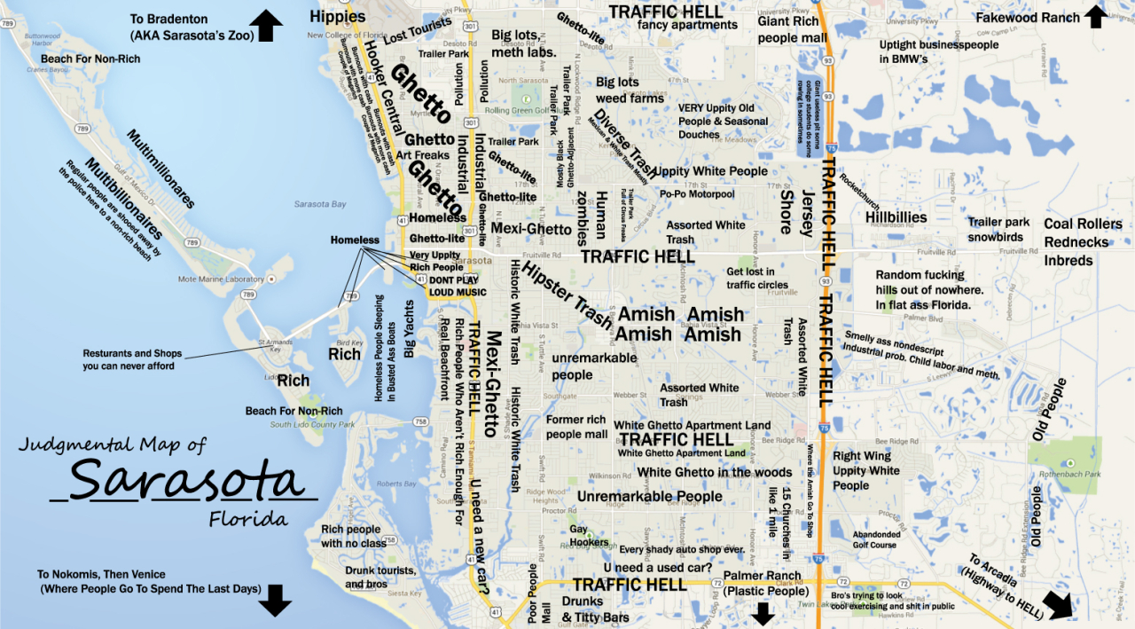 City Navigation And List Of Destinations - Sarasota, Florida, Usa - Map Sarasota Florida Usa