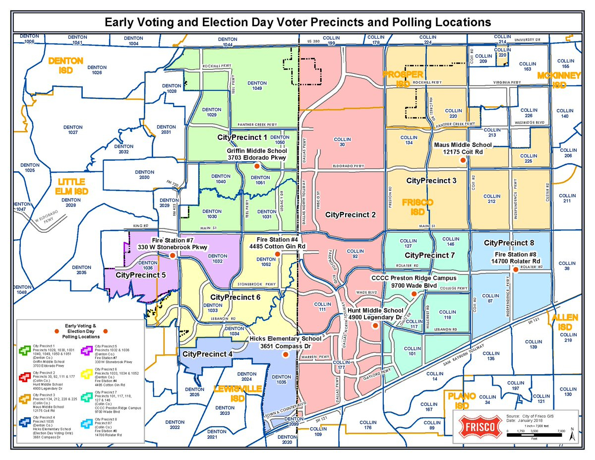 "City Of Frisco,texas On Twitter: ""frisco, Saturday Is Election Day - Frisco Texas Map"