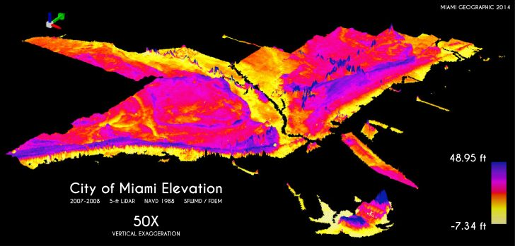 Florida Elevation Map Above Sea Level