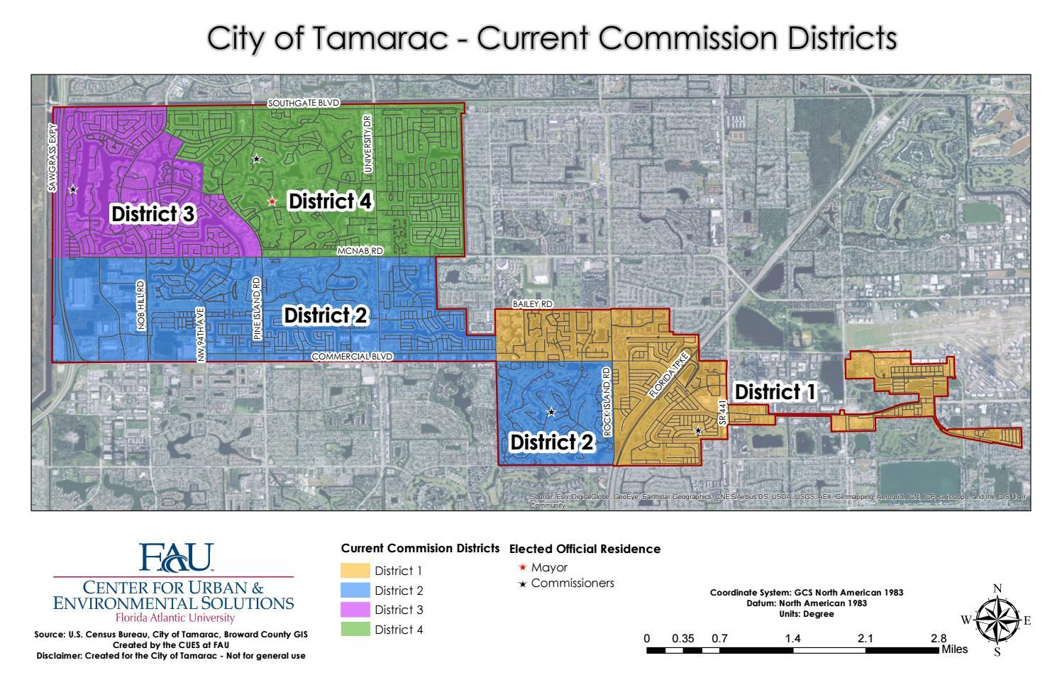 City Of Tamarac - Current Districts Mapalexis Peña - Issuu - Tamarac Florida Map
