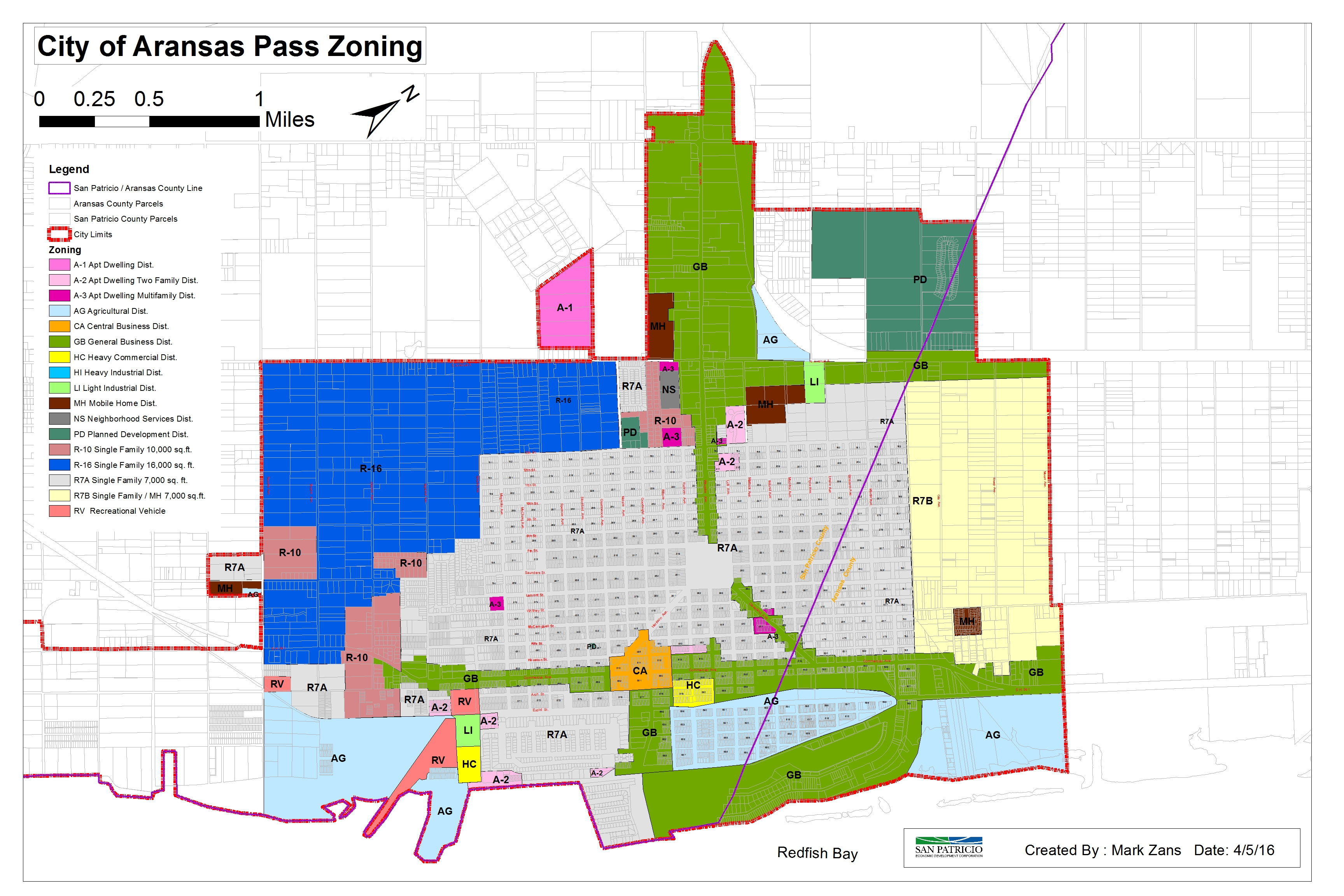 City Zone Maps / San Patricio County Economic Development Corporation - Map Of Aransas Pass Texas