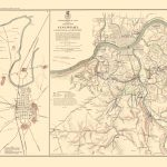 Civil War Map   Bowling Green Defenses & Approaches 1895   Printable Map Of Bowling Green Ky