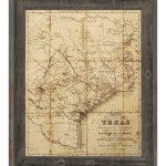 Click Wall Art 'sepia Texas Map' Framed Graphic Art & Reviews | Wayfair   Framed Texas Map