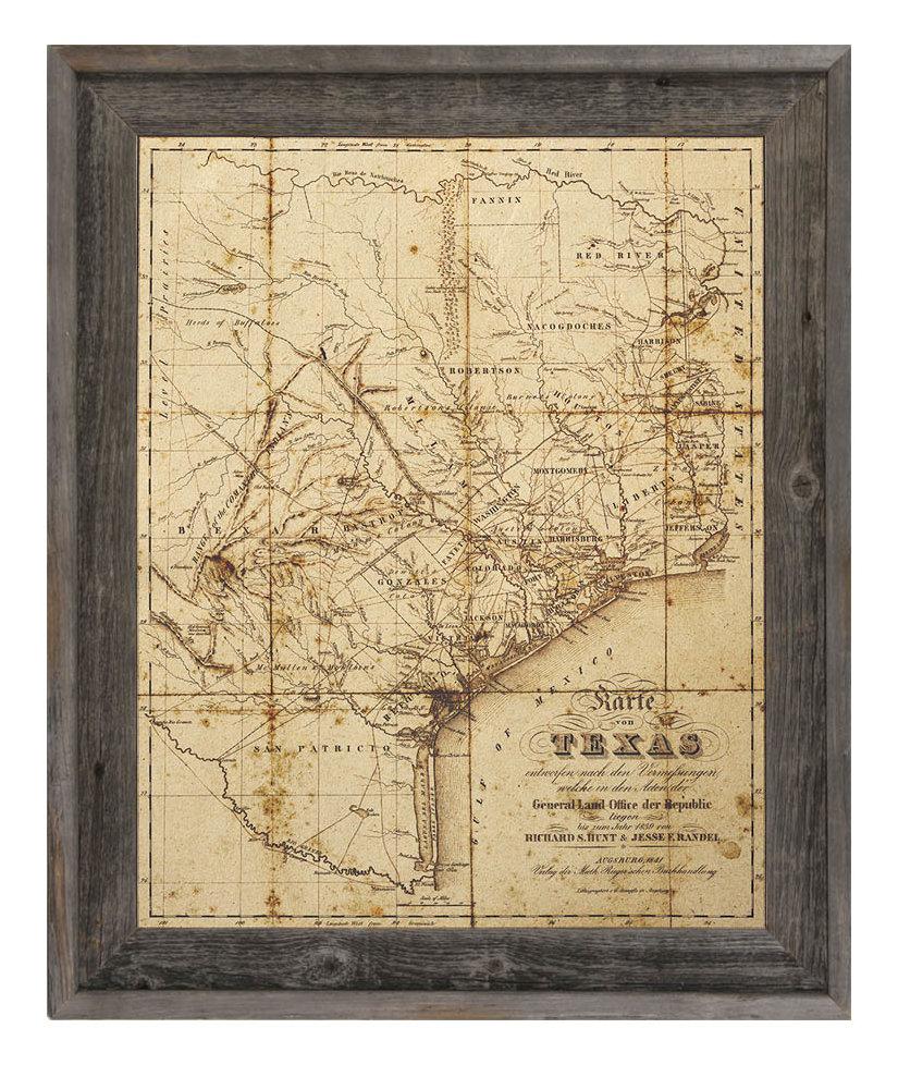 Click Wall Art 'sepia Texas Map' Framed Graphic Art & Reviews | Wayfair - Framed Texas Map