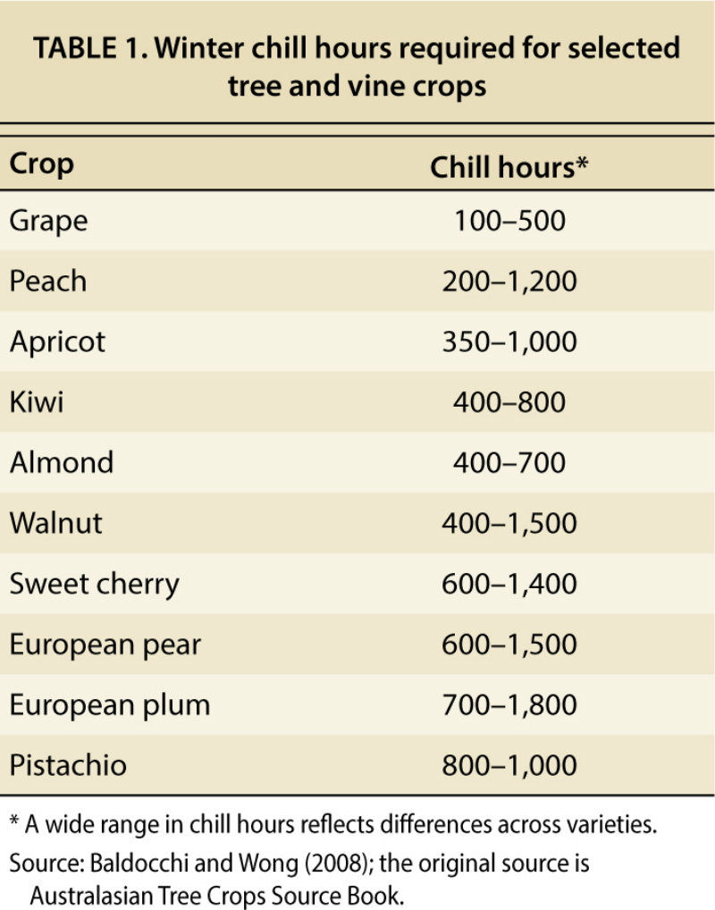Climate Change, 'chill Hours' And California Crops - Capradio - Chill Hours Map California