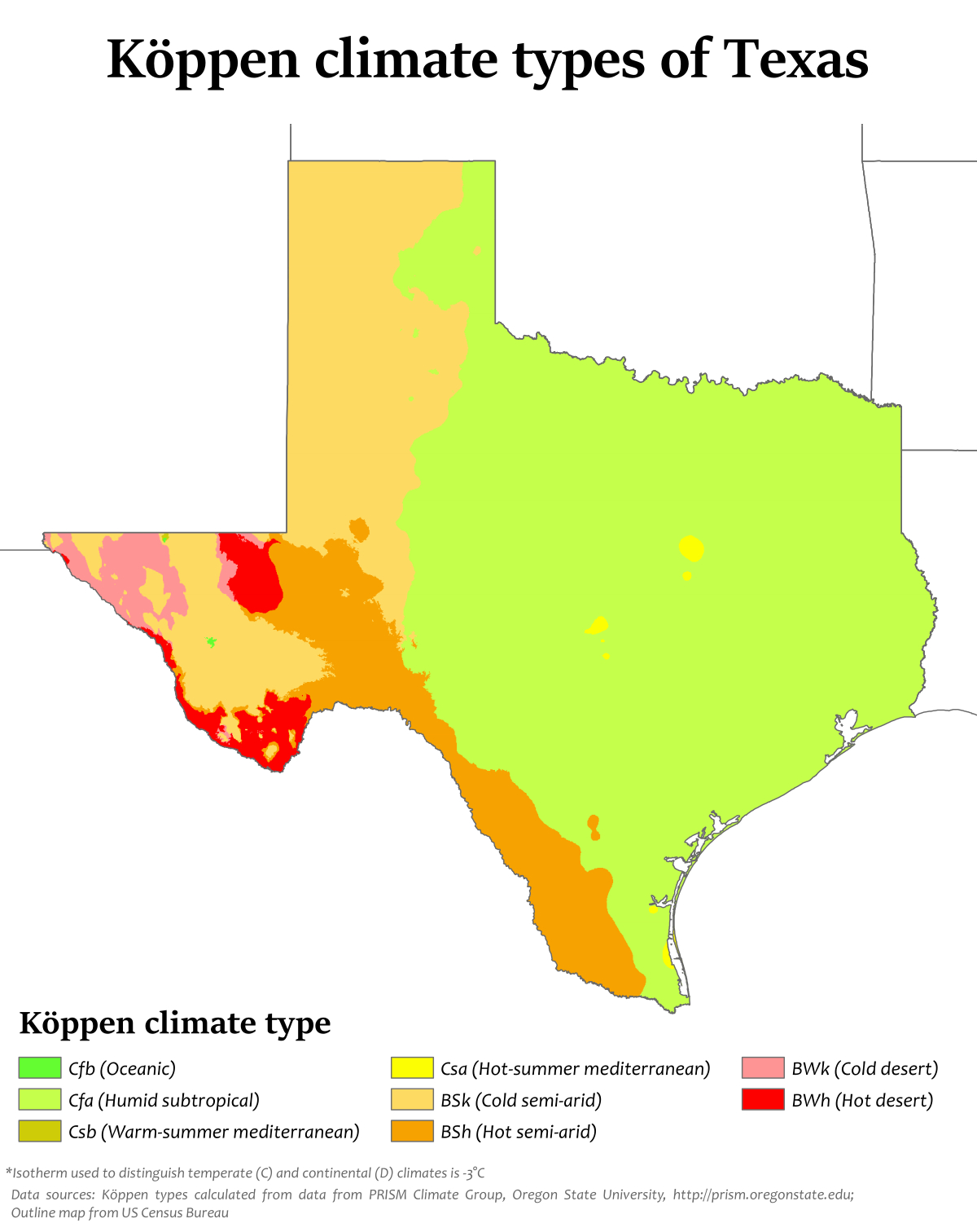 Climate Of Texas - Wikipedia - Texas Temperature Map