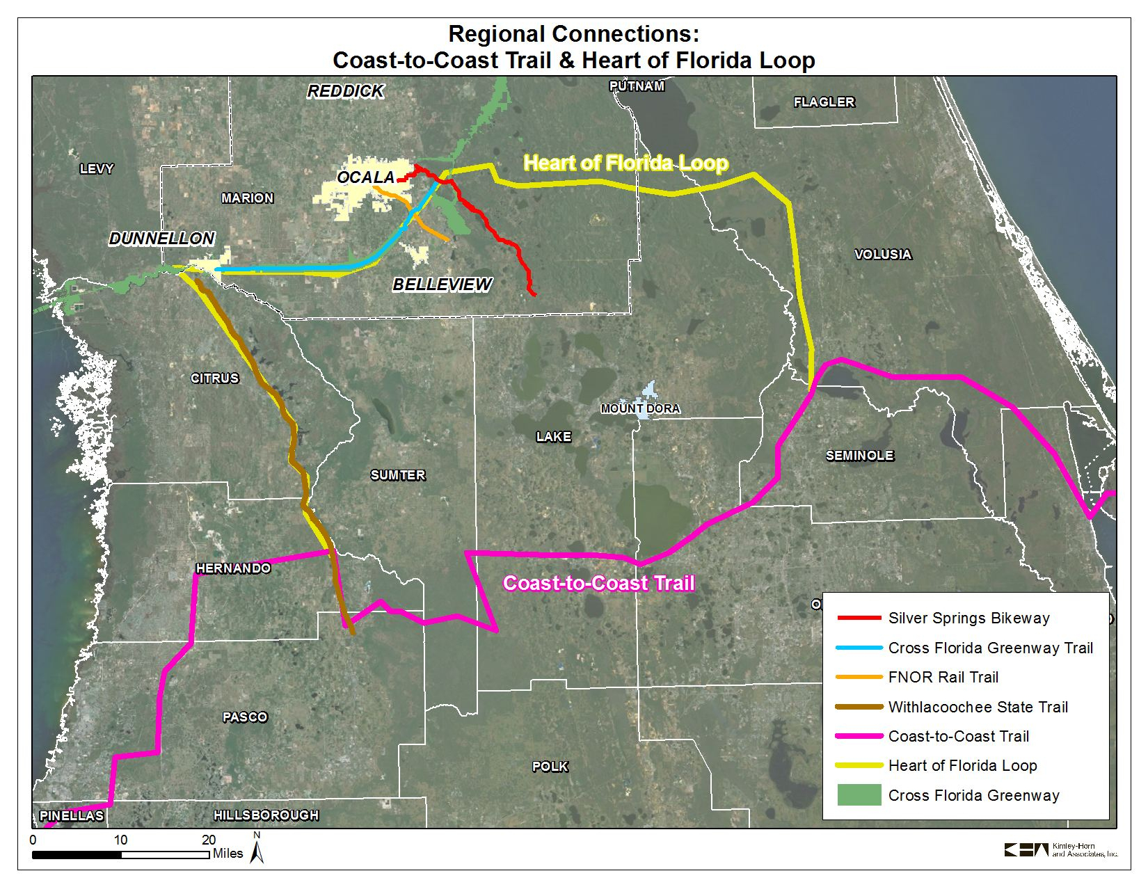 Coast To Coast Trail And Heart Of Florida Loop | 2035 Bicycle And - Central Florida Bike Trails Map
