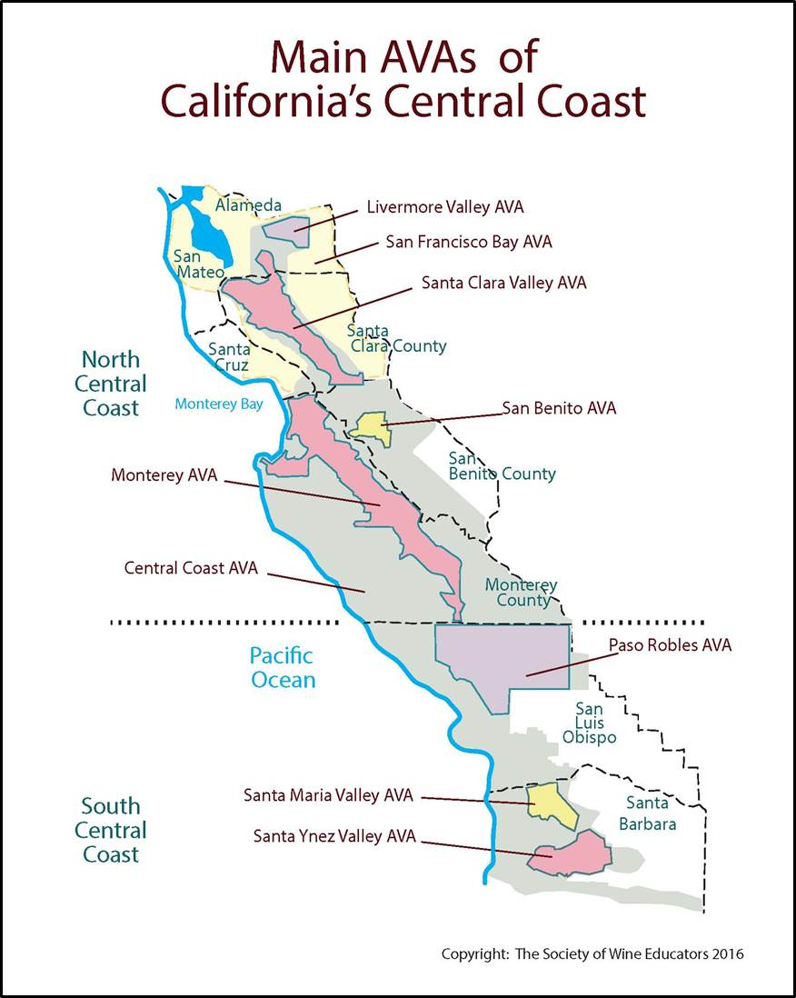 Coastal Map Of Southern California - Klipy - Map Of Central And Southern California Coast
