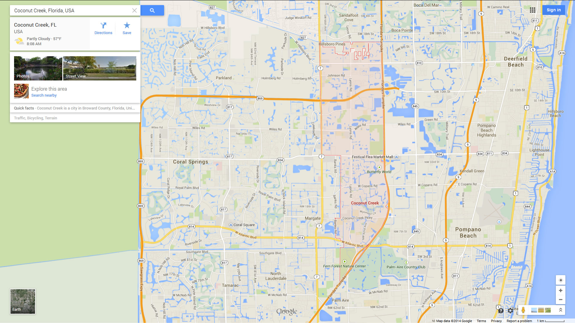 Coconut Creek Florida Map - Coconut Creek Florida Map