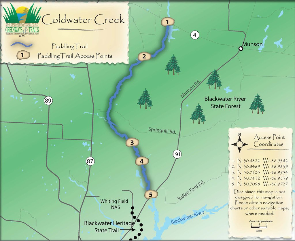 Coldwater Creek Conoe Trail - Maplets - Coldwater Creek Florida Map