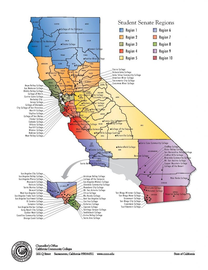 Colleges In California Map - Klipy - Colleges In California Map