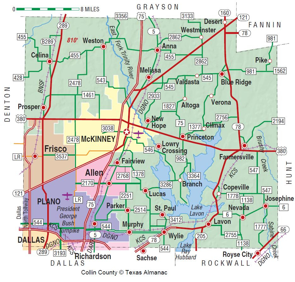 Collin County | The Handbook Of Texas Online| Texas State Historical - Map Of Northeast Texas Counties