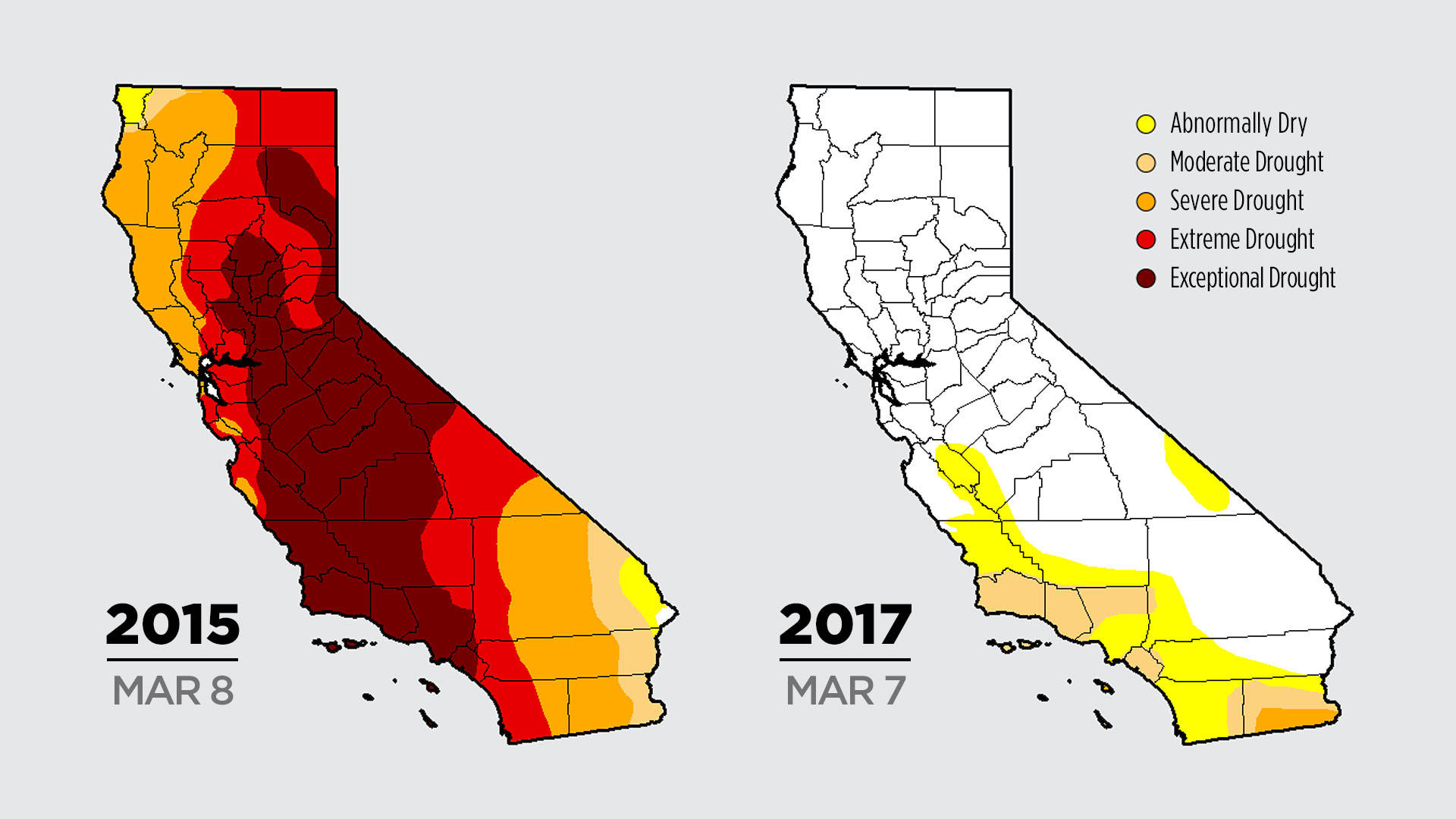 Color Me Dry: Drought Maps Blend Art And Science -- But No Politics - California Drought Map