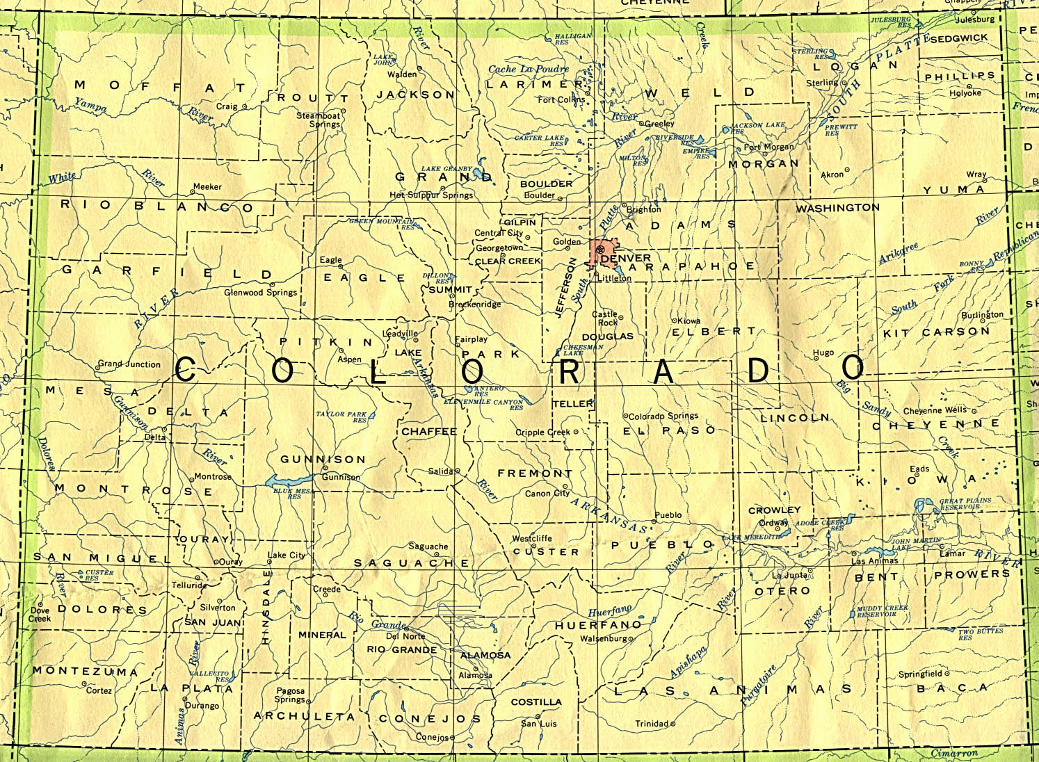 Colorado Maps - Perry-Castañeda Map Collection - Ut Library Online - Printable Map Of Colorado