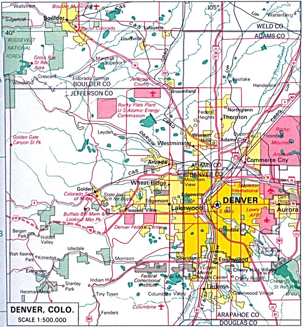 Colorado Maps - Perry-Castañeda Map Collection - Ut Library Online - Printable Road Map Of Colorado