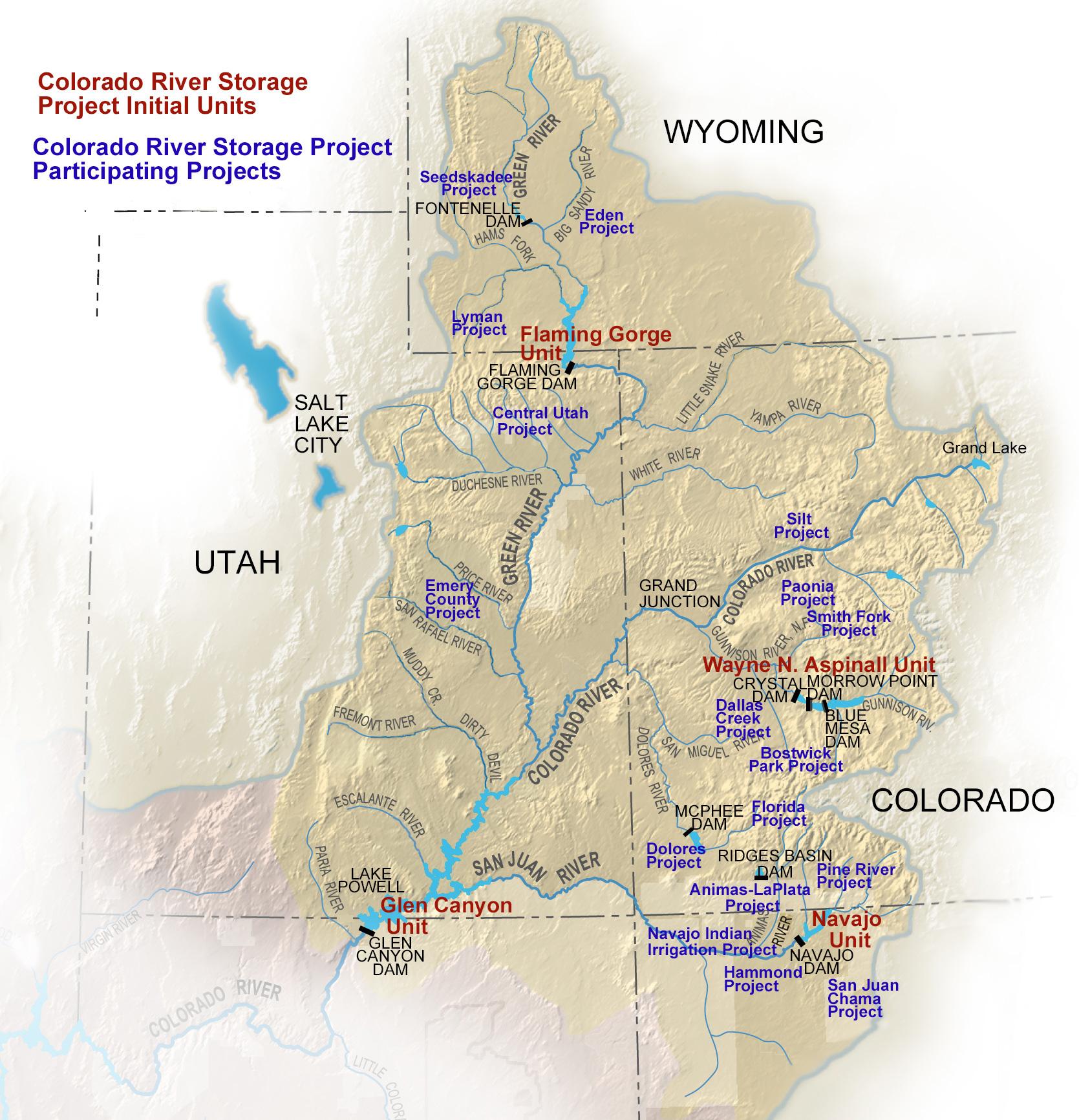 Colorado River Storage Project Uc Region Bureau Of Reclamation - Colorado River Map Texas
