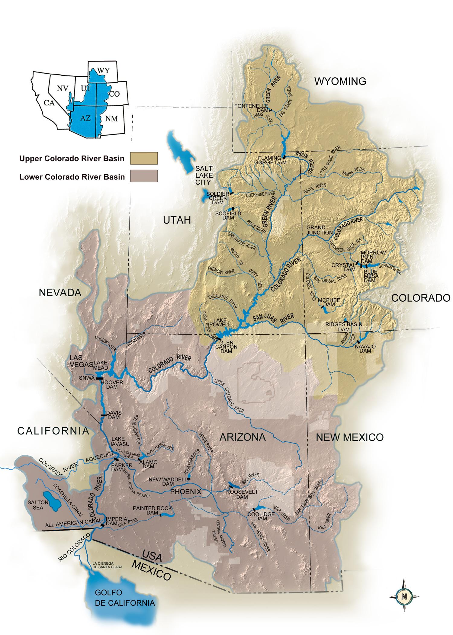 Colorado River Storage Project Uc Region Bureau Of Reclamation New - Colorado River Map Texas