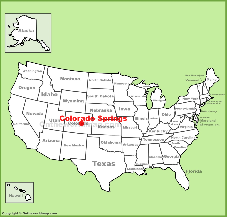 Colorado Springs Location On The U.s. Map - Springs Map Florida