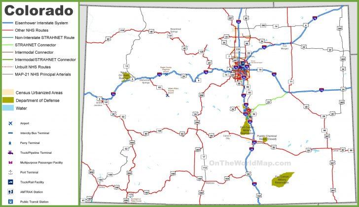 Printable Road Map Of Colorado