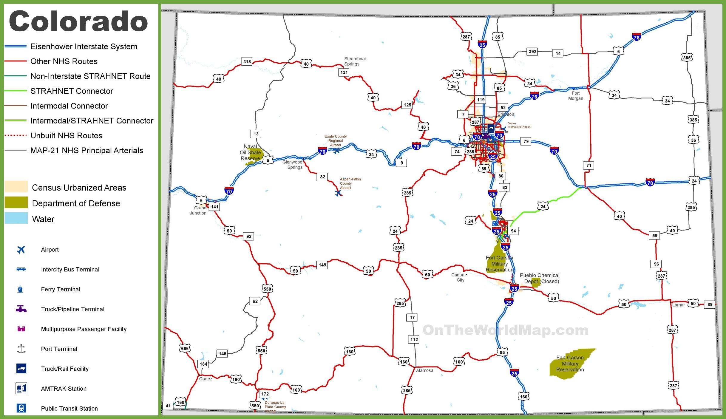 Colorado State Maps | Usa | Maps Of Colorado (Co) - Printable Road Map Of Colorado