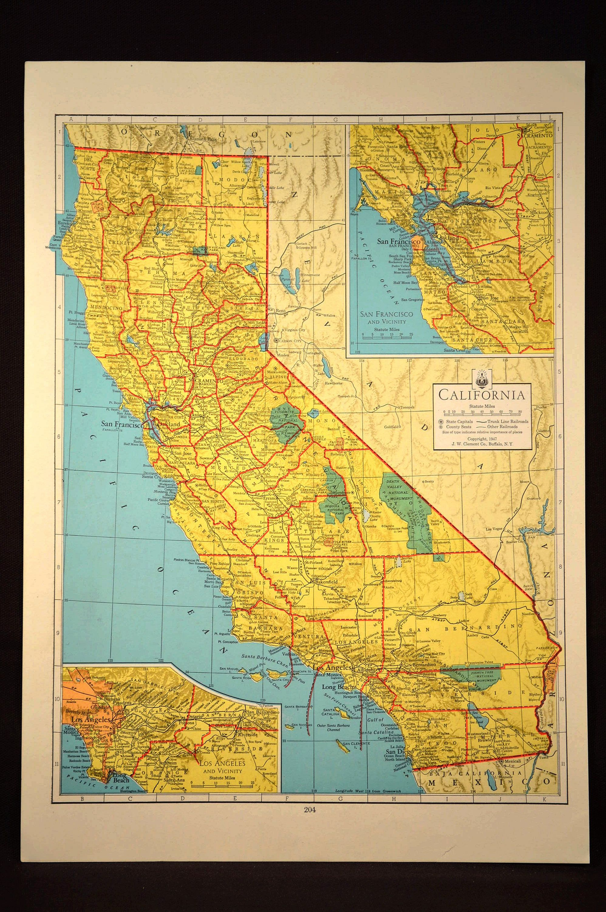 Colorful Yellow Vintage California Map California Colorful | Map - California Map Wall Art