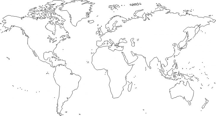 Coloring World Map Printable
