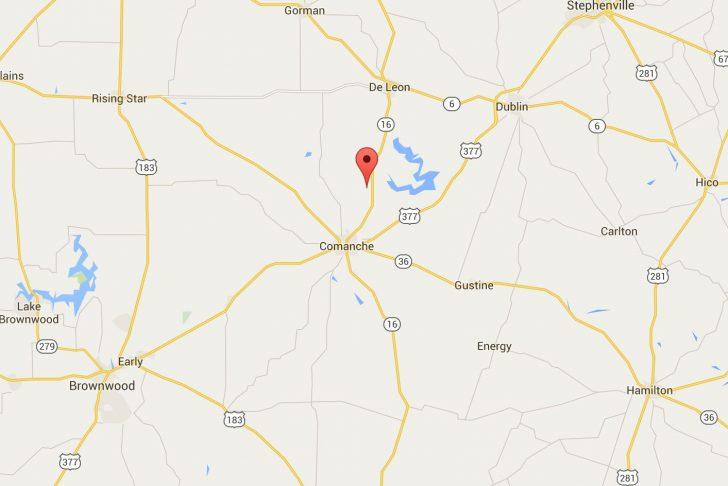 Comanche County Texas Map
