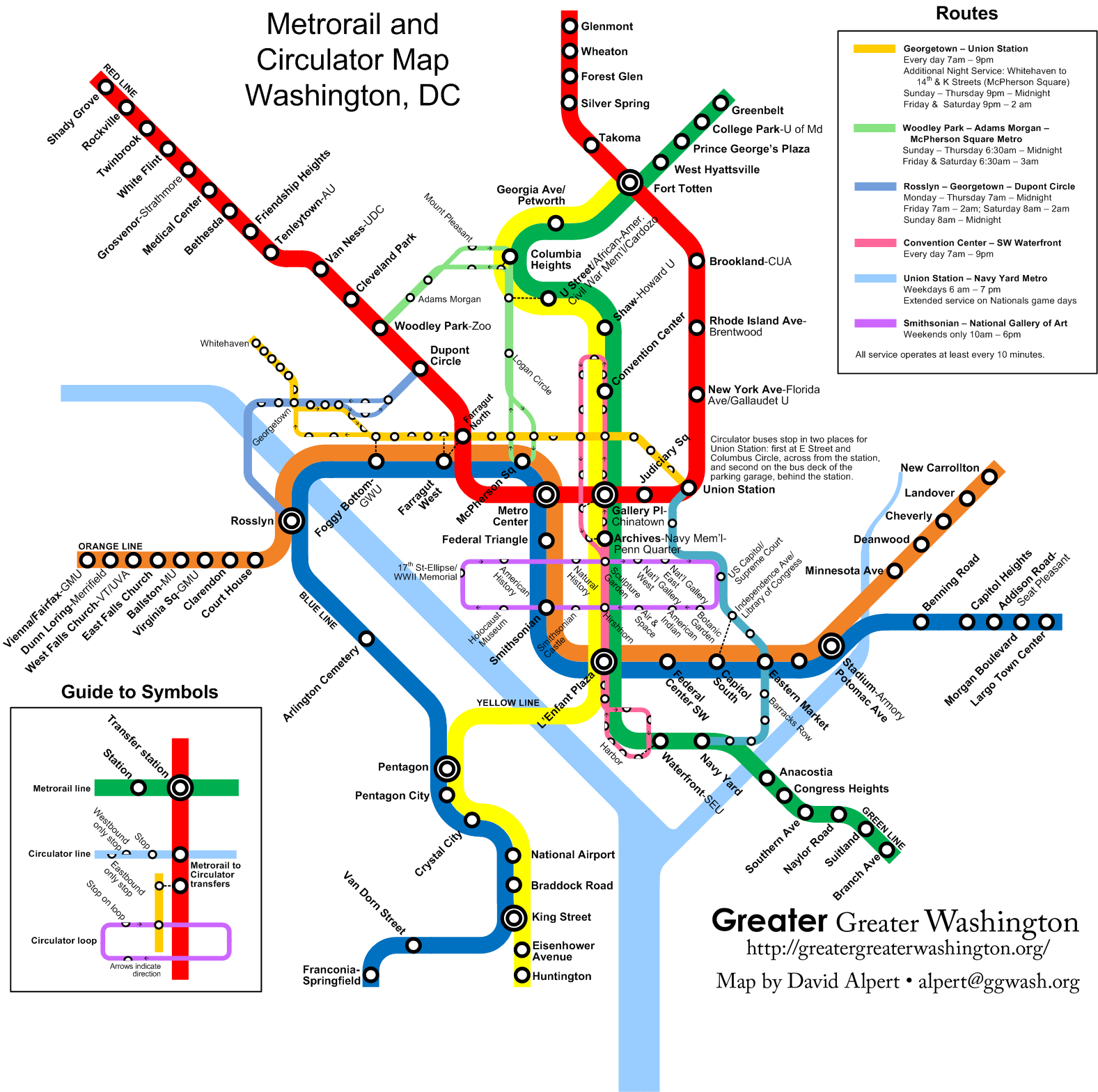 Combine The Circulator And Metro Maps For Visitors – Greater Greater - Printable Metro Map Of Washington Dc