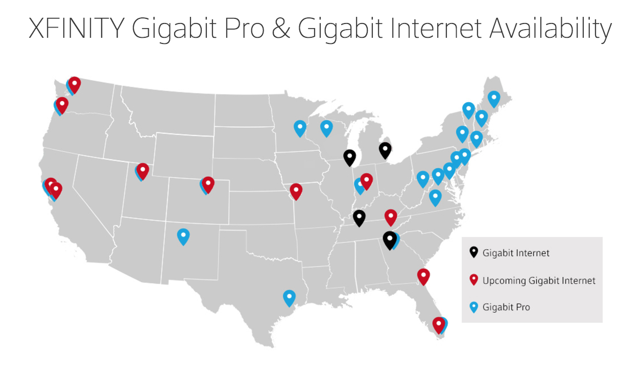 Comcast's Gigabit Cable Will Be In 15 Citiesearly 2017 | Ars - Comcast Coverage Map California
