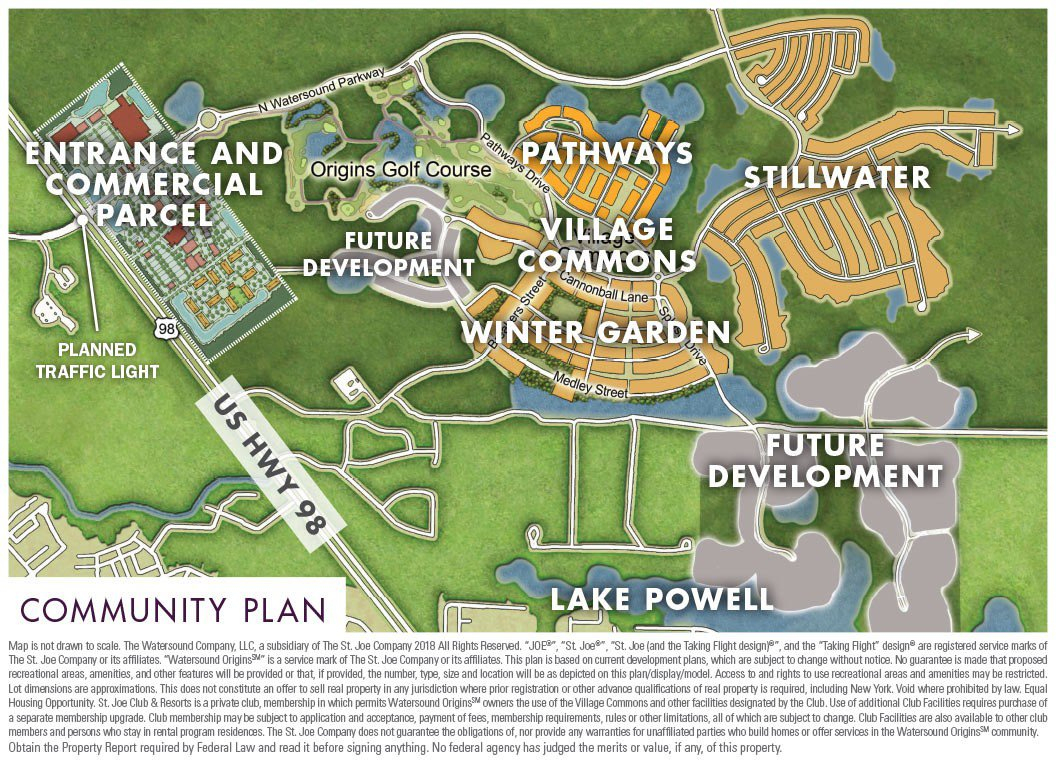 Community Maps - Watersound Origins - Beaches Of South Walton - Watersound Beach Florida Map