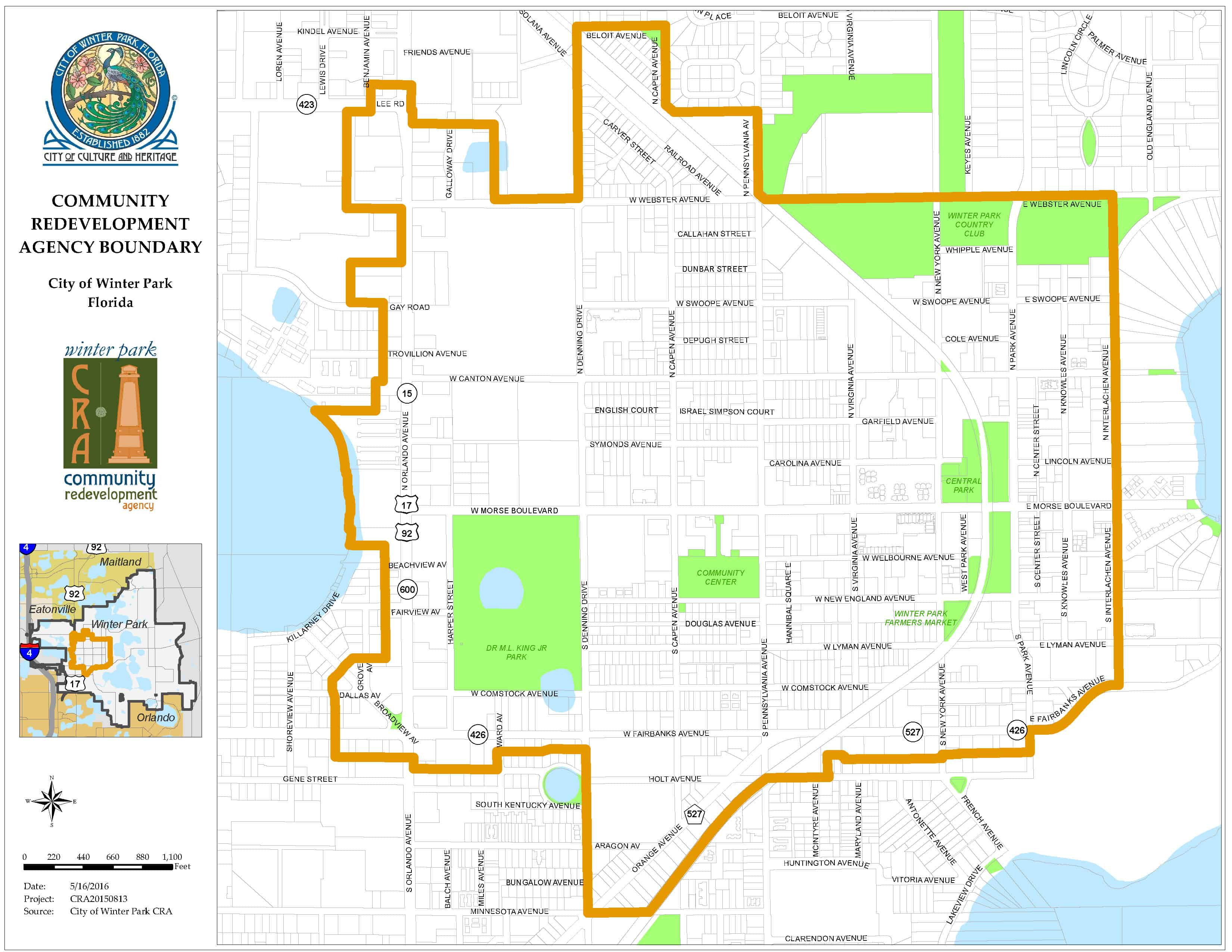 Community Redevelopment Agency (Cra) – City Of Winter Park - Winter Park Florida Map