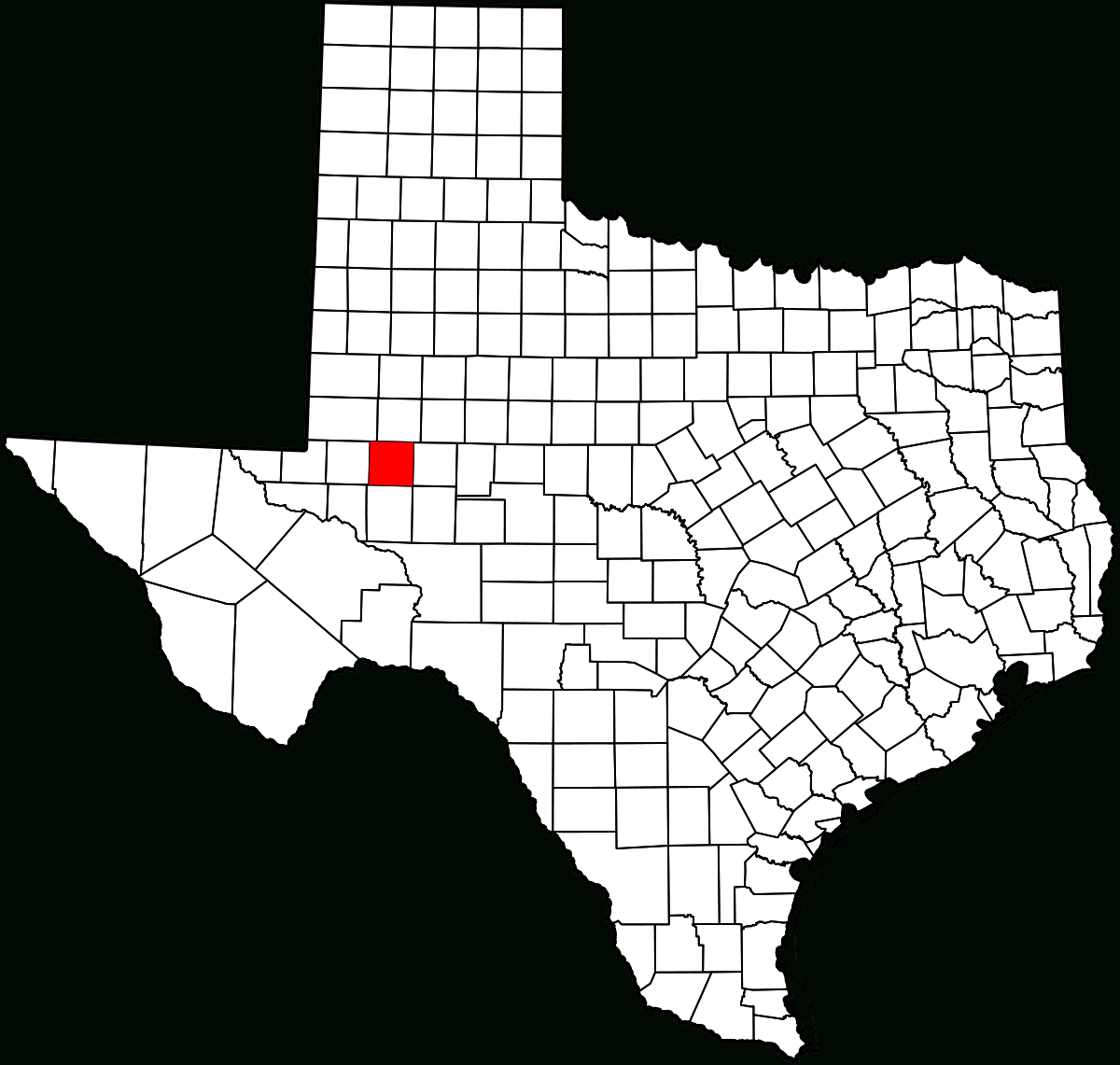 Comté De Midland (Texas) — Wikipédia - Map Of Midland Texas And Surrounding Areas