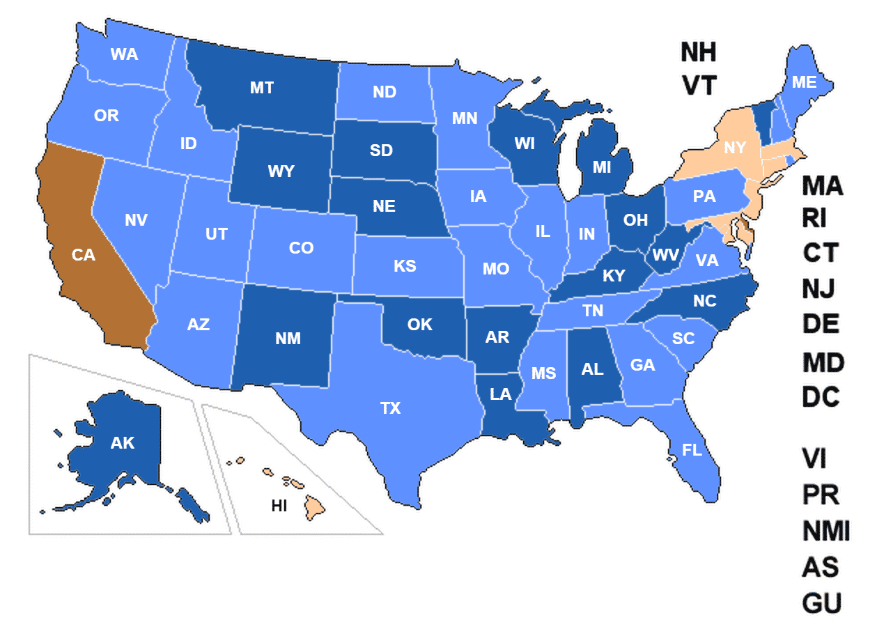 Concealed Carry Permit Reciprocity Changes 8/12/2015 - Usa Carry - Florida Concealed Carry Reciprocity Map 2018