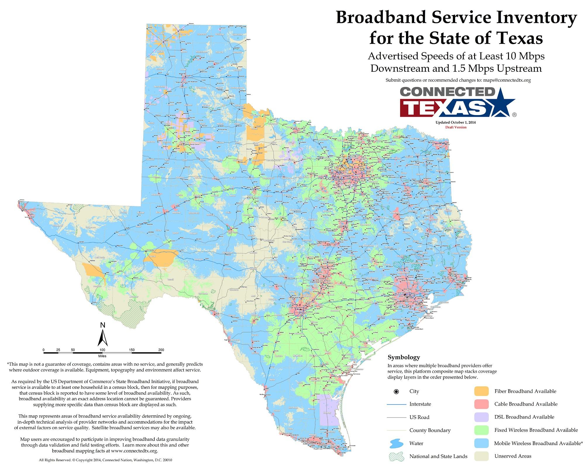 Connected Texas   - Texas Broadband Map
