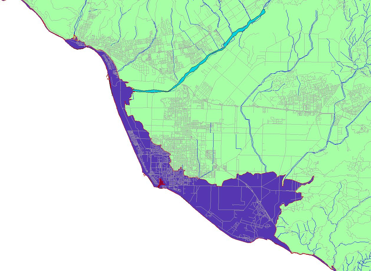Conservation: Global Warming (Cnps-Ci) - California Sea Level Map