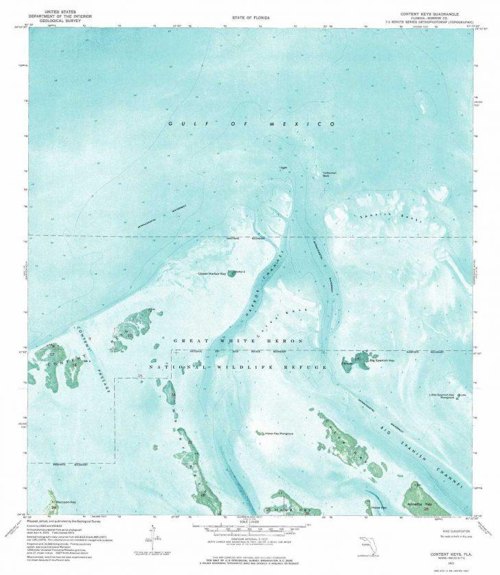 Florida Keys Topographic Map