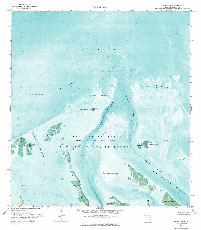 Content Keys Topographic Map, Fl - Usgs Topo Quad 24081G4 - Florida Keys Topographic Map
