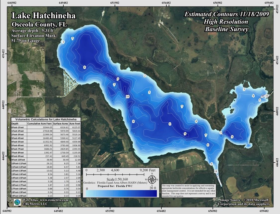 Contour Lake Maps Of Florida Lakes - Bathymetric Maps, Boat Ramp - Florida Fishing Lakes Map