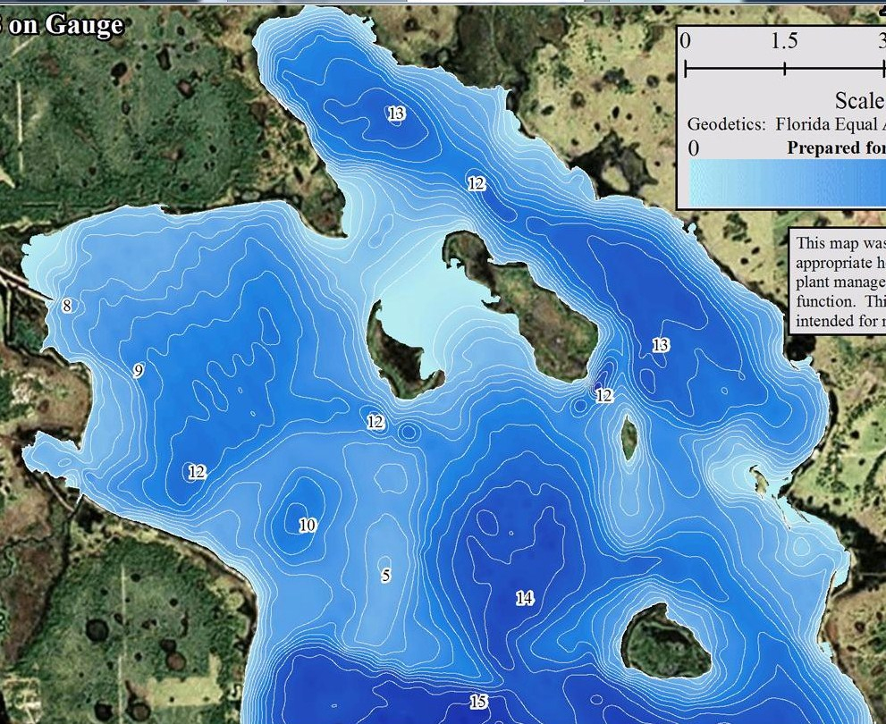 Contour Lake Maps Of Florida Lakes - Bathymetric Maps, Boat Ramp - Florida Lakes Map